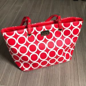 KENNETH COLE REACTION Red Circle Tote